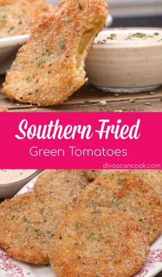 Southern Fried Green Tomatoes| Made with Buttermilk, Cornmeal & Seasoned To Perfection! 😋 😋 😋 😋 😋 🍅 🍅 🍅 🍅 🍅 🍅 🍅 🍅 🍅 🍅 🍅 🍅 🍅 🍅 🍅 🍅 🍅 🍅 🍅 🍅 🍅 🍅 🍅 🍅 🍅 🍅 🍅 🍅 🍅 🍅 🍅 🍅 🍅 🍅 🍅 🍅 🍅 🍅 🍅 #southern #brunch #dinner #buttermilk #friedgreentomatoes #lunch #crunchy #comfortfood Green Tomato Recipes, Recipe For Fried Green Tomatoes, Recipes For Tomatoes, Spinach Recipes, Fried Tomatoes, Def Not, Snacks Für Party, Taco, Comfort Food