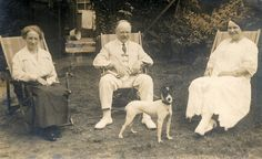 Found image. All and Minnie in the garden in the 1920s.