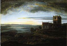 Avaldsnes Church by Johan Christian Dahl