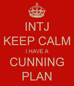 INTJ KEEP CALM I HAVE A CUNNING PLAN