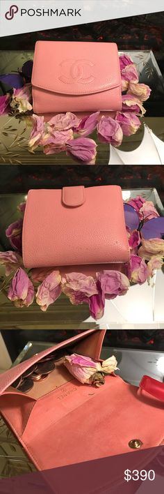 Chanel 💯 Authentic Soft pink Chanel wallet really beautiful color like barbie!!! Chanel Bags Wallets