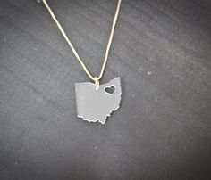 State Necklace  Charm - Share some love for where you were born, raised or live