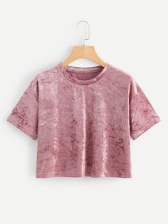 ROMWE offers Velvet Drop Shoulder Crop Tee & more to fit your fashionable needs. ROMWE offers Velvet Drop Shoulder Crop Tee & more to fit your fashionable needs. Girls Fashion Clothes, Teen Fashion Outfits, Outfits For Teens, Girl Fashion, Womens Fashion, Cute Girl Outfits, Cute Casual Outfits, Stylish Outfits, Women's Casual