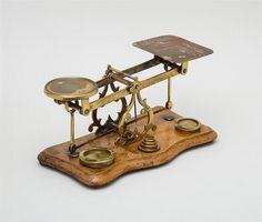 Victorian Brass Postal Scale...