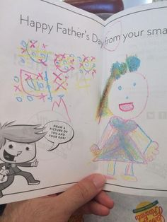 Thanks to all of the small fries who came in and created custom Father's Day cards for their dads! Fathers Day Ecards, Happy Father, Fries, Dads, Thankful, Bullet Journal, Fun, Fathers, Hilarious