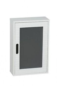 Hem vita trä väggbonad badrumsskåp med self 48x32cm | Fruugo