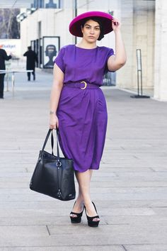 Plus sized model nadia aboulhosn's fashion blog.