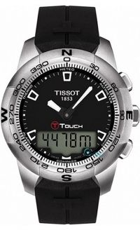 TISSOT T-Touch II Black Rubber Strap T0474201705100 - http://rologia.org/tissot-t-touch-ii-black-rubber-strap-t0474201705100/