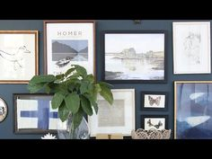 How to Create an Eclectic Gallery Wall - YouTube