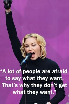 Madonna - Inspirational quotes I've always been envious of her self-confidence.