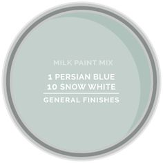 How to mix general finishes milk paint to get mint green