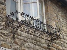 wrought iron window box, Stamford