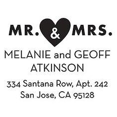 Mr. & Mrs. Custom Stamp - PS design