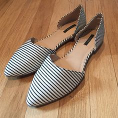Striped Flats ▪️Worn once                                                                                          ▪️NO TRADES                                                                                                                                         ▪️PRICE IS FIRM Forever 21 Shoes Flats & Loafers