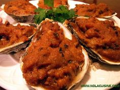 Oysters Roffignac. Baked oysters in New Orleans didn't start with the Rockefeller. Nola Cuisine shared this recipe, similar to Oysters Bienville, that may date back to the 1820s! #oysterobsession
