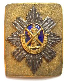 1st (the Royal) Regiment of Foot Officer's shoulder belt plate circa 1844-55.