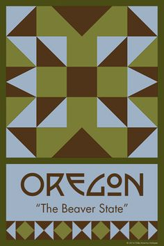 OREGON quilt block. Ready to sew. Single 4x6 block $4.95.