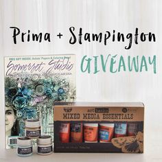 Enter to Win our Mixed-Media Art Bundle, featuring paints and supplies by Finnabair and Prima Marketing, and the latest issue of Somerset Studio!