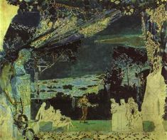 Italian Night in Naples (Sketch for the curtain in Russian Private Opera) - Mikhail Vrubel