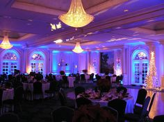 Lighting :: Possible idea of color theme setup. Blue and purple reception