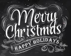 merry christmas vector shutterstock chalkboard artwork