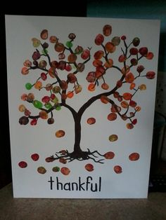 Thanksgiving art.... write in pen words of things we are thankful for
