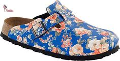 Birkenstock  Boston, Chaussons Mules femme - - Rambling Rose Blue, 38,0 - Chaussures birkenstock (*Partner-Link)
