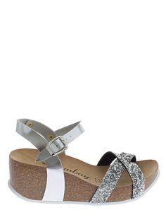 "Sunbay - Sandały ""Pivoine"" w kolorze srebrnym"
