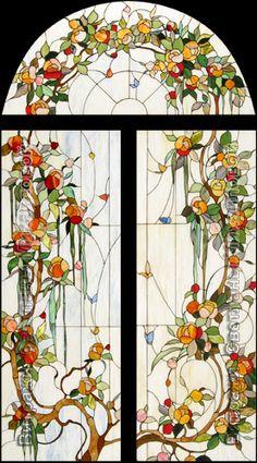 Витраж flora-035