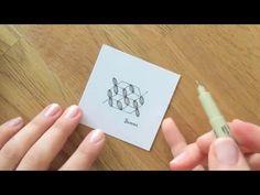 So zeichne und schattiere ich das Zentangle® Muster Jakubs von Emily Perkins. Weitere Muster gibt es auf http://bunte-galerie.de/zentangle-muster-verzeichnis...