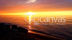 Sunset at the southern shoreline of Lake Superior in northern Michigan. HD Stock Footage Clip. Wide shot. 2016-01-04, UNITED STATES.