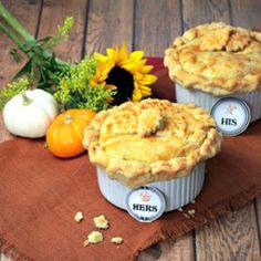 His and Hers Chicken Pot Pies - Culinary Envy