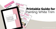 How to Paint Beautiful White Trim from A Professional Painter - A Well Purposed Woman Painting Trim Tips, Diy Painting, Kitchen Cabinet Remodel, Professional Painters, Paint Drying, Before And After Pictures, Trim Color, Wood Trim, White Trim