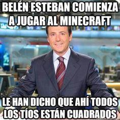 Belén Esteban jugando al Minecraft
