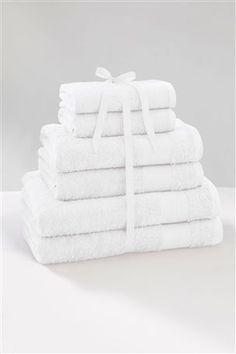 6 Piece White Towel Bale, white - £35