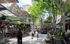 Buy Australia tour package and explore the beautiful Queen Street Mall, Brisbane for that unending shopping experience. Visit the restaurants, shopping stores and more at the mall street in Brisbane. Brisbane Australia, Australia Travel, Street Mall, Street View, Landscape Architecture, Landscape Design, Mall Stores, Shopping Mall, Architecture