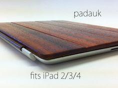 iPad 2/3/4 Dark Wood Covers by DFauberWoodsmith on Etsy
