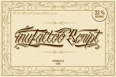 inuTattoo Script + Poster Vector by inumoccatype on @creativemarket