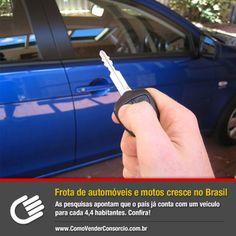 No Brasil, a quantidade de pessoas que adquirem automóveis não para de crescer. Confira a matéria completa: https://www.comovenderconsorcio.com.br/noticias/frota-de-automoveis-e-motos-cresce-no-brasil?utm_source=Pinterest&utm_medium=Perfil&utm_campaign=redessociais