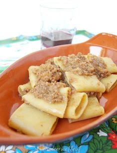 Pasta with genovese sauce.