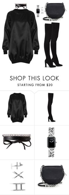 """Untitled #81"" by manerefortis ❤ liked on Polyvore featuring The Ragged Priest, Tamara Mellon, Fallon, Chanel, GUESS and rag & bone"