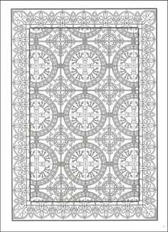Decorative Tile Designs Coloring Book