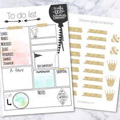{Free printables} To do list et stickers dorés! |