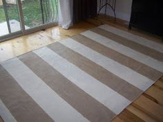 { The Fine House }: Canvas (dropcloth) rugs.   DIY