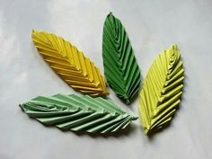 origami leaves.