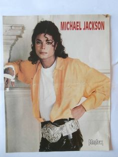 Michael Jackson Kevin Costner Poster from Greek Mags clippings 1970s 1990s | eBay