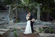 The natural elegance of Mammoth Mountain's Forest Chapel makes it our most popular summer wedding venue. Nestled among ancient pines, across from a picturesque footbridge that straddles Twin Lakes, you will feel like you are truly getting married in the middle of an enchanted forest. #mammothweddings #mountainwedding #lakesidewedding #destinationwedding #mammothmountain #weddingwednesday #ceremony #reception #ceremonysites #receptionsites #wedding #engagement