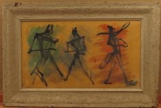 Waylande Grerory (1905-1971) Three Ballet Figures Acrylic on Canvas Painting
