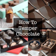How to temper chocolate tutorial including video, step-by-step instructions and extra tips. Lindt Chocolate, Artisan Chocolate, Chocolate Coating, Chocolate Truffles, Chocolate Dipped, Chocolate Desserts, Tempering Chocolate, Melt Chocolate, Chocolate Brownies