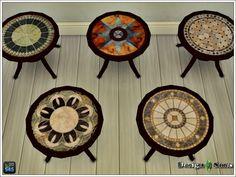 Mosaic Round Patio Table at Design 4 Sims via Sims 4 Updates